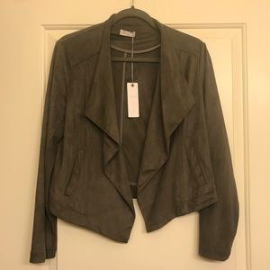 Suede taupe gentle fawn jacket! NWT